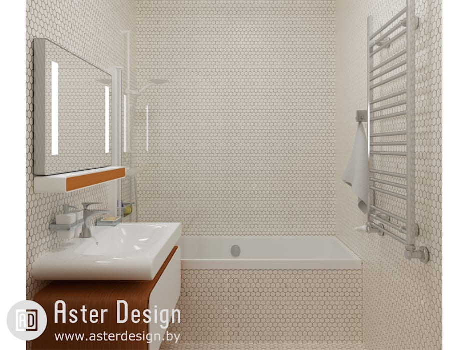 Ванная в сотах: Ванные комнаты в . Автор – ASTER DECO