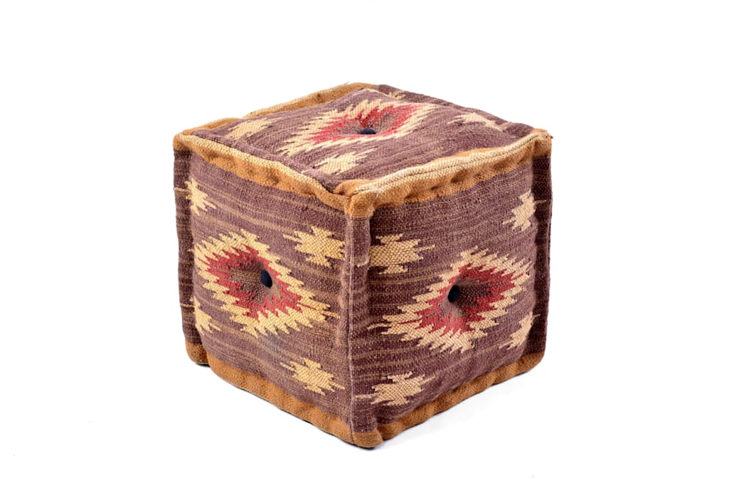 Natural Fibres Wool Jute Poufs: modern Living room by Natural Fibres Export