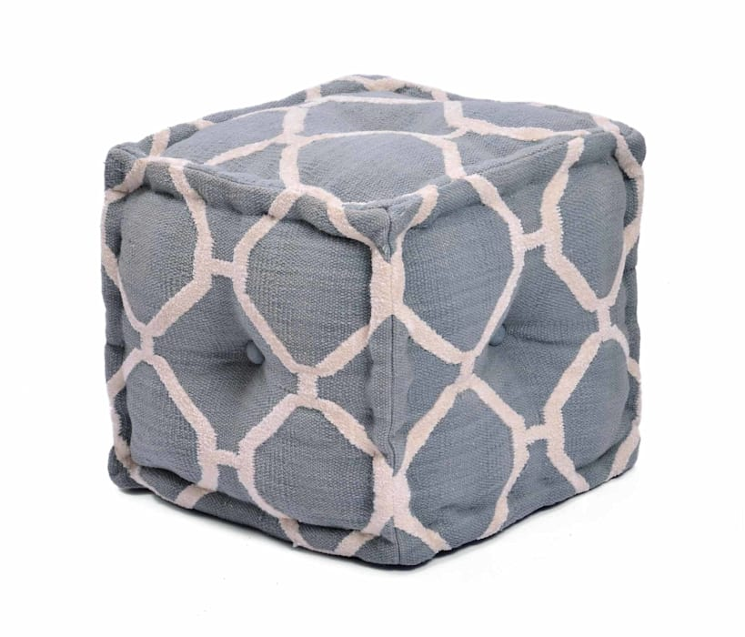 Hand Woven Rug Poufs Modern houses by Natural Fibres Export Modern