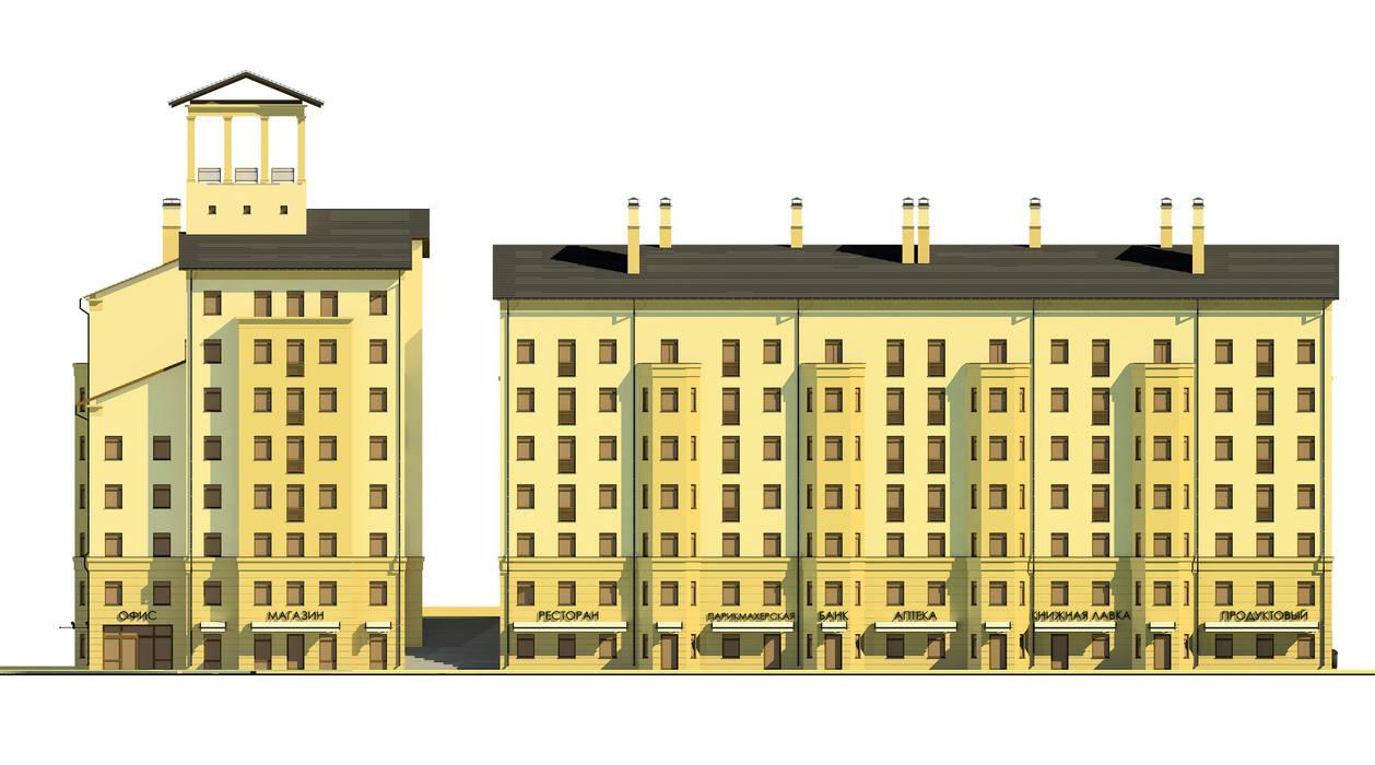 Жилой комплекс:  в . Автор – Studio Kamil Tsuntaev, Классический