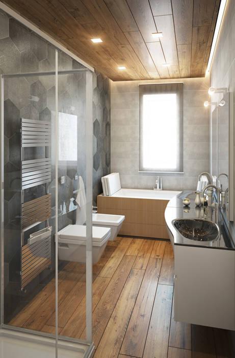 Bagno zona notte: Bagno in stile in stile Moderno di Beniamino Faliti Architetto