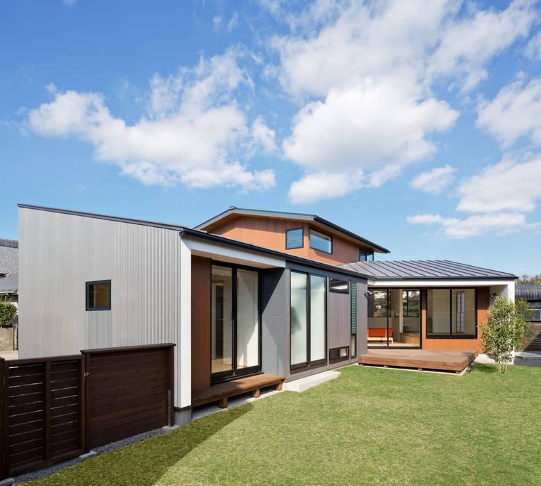 PLEASANT ANGLE HOUSE オリジナルな 家 の 株式会社プラスディー設計室 オリジナル