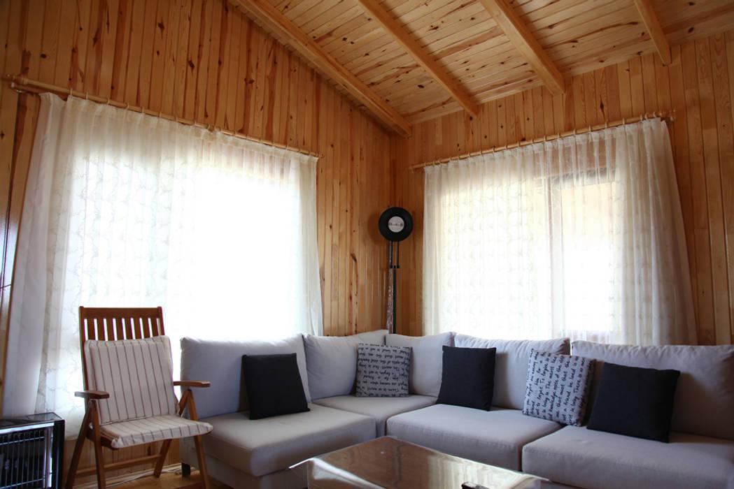 AHSB - AHŞAP EV MODEL B Modern Duvar & Zemin Kuloğlu Orman Ürünleri Modern