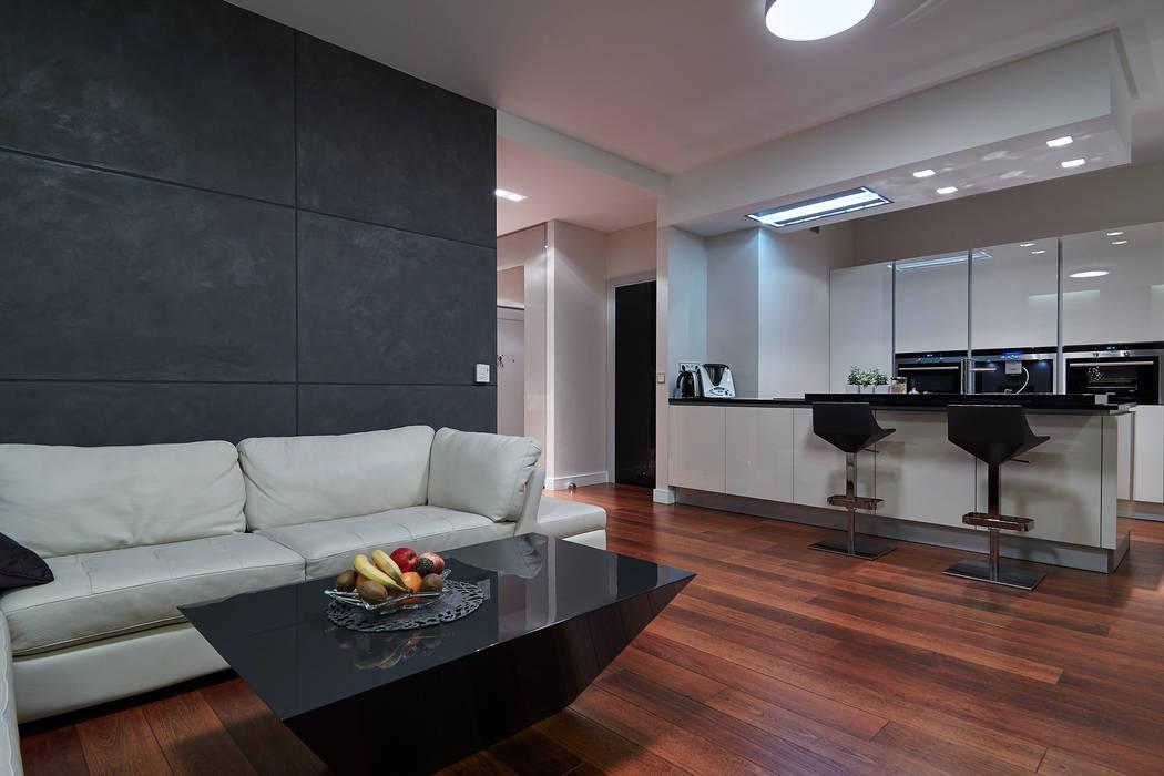 Modern living room by ARCHINSIDE STUDIO KATARZYNA PARZYMIES Modern