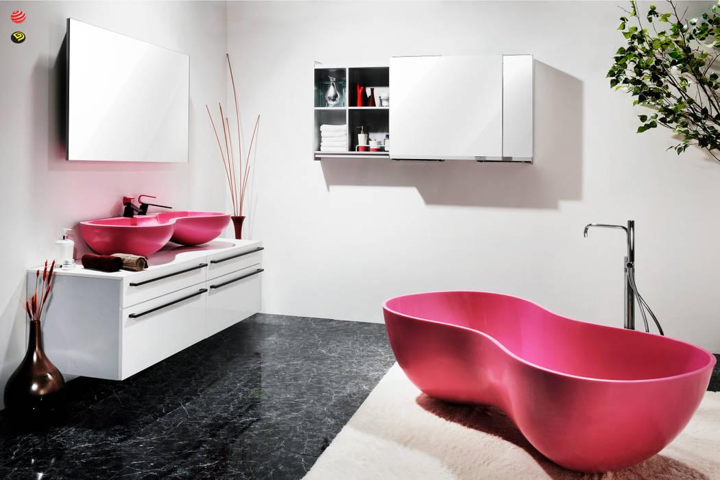 커플시리즈: Saturnbath의  욕실,러스틱 (Rustic)