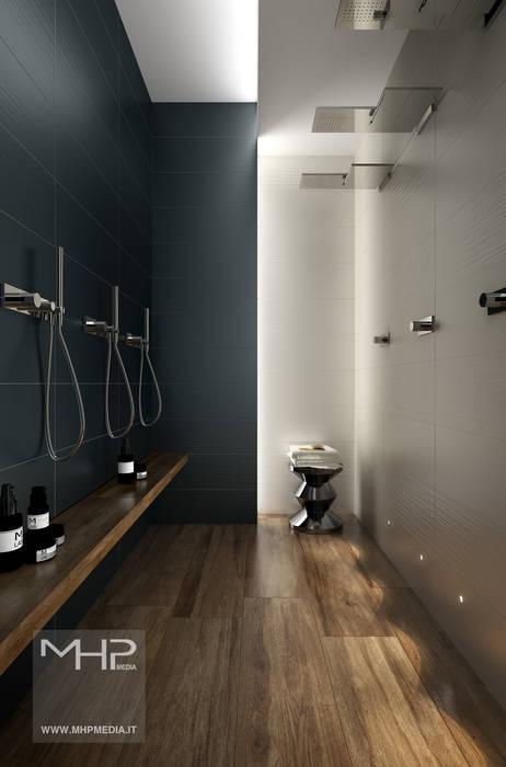 3D rendering   bagno moderno: Bagno in stile in stile Moderno di MHP media   3D Rendering