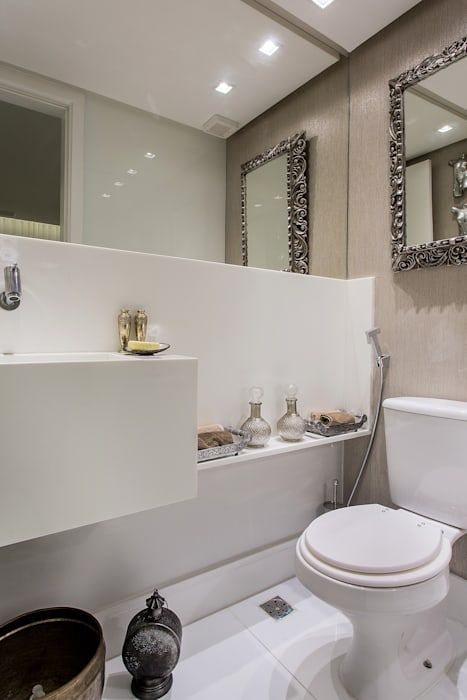 Lavabo: Banheiros  por Bruno Sgrillo Arquitetura,Clássico