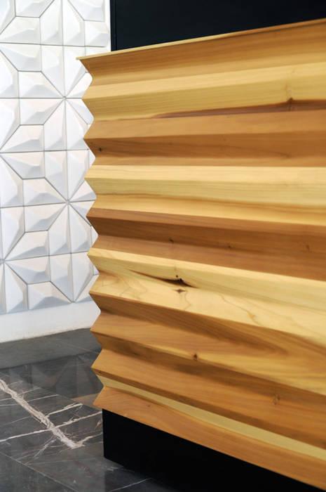 Mueble de recepción: Oficinas y tiendas de estilo  por Mediamadera, Moderno