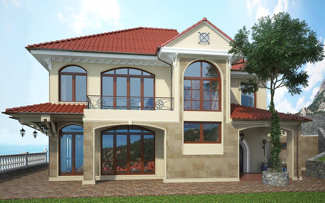 Коттедж на мысе Сарыч: Дома в . Автор – Дизайн - студия Пейковых, Средиземноморский
