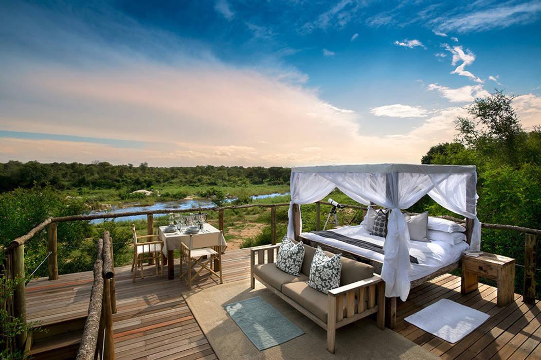 Verblijf midden in het wilde Zuid-Afrika bij Lion Sands in een boomhut:  Hotels door TreeGo Boomhut Bouwers