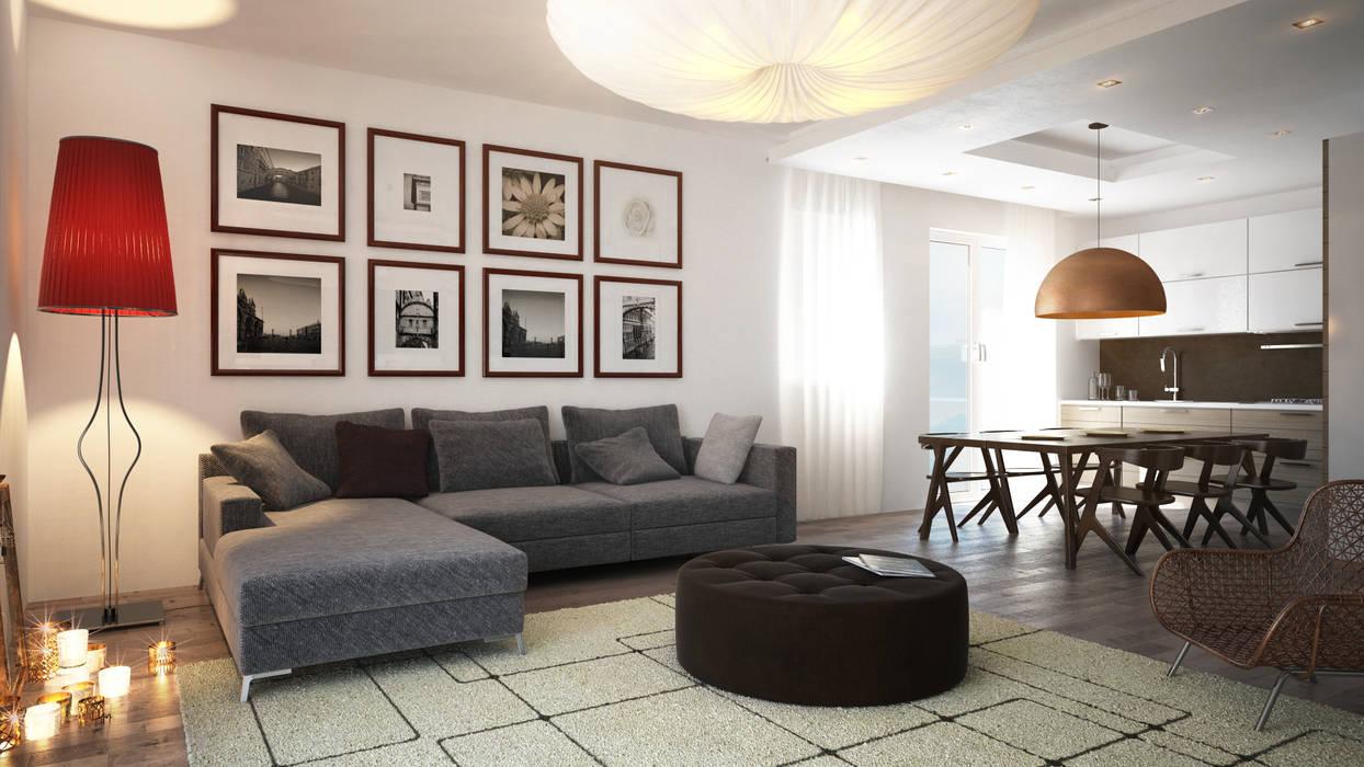 Zona Living Soggiorno moderno di Beniamino Faliti Architetto Moderno