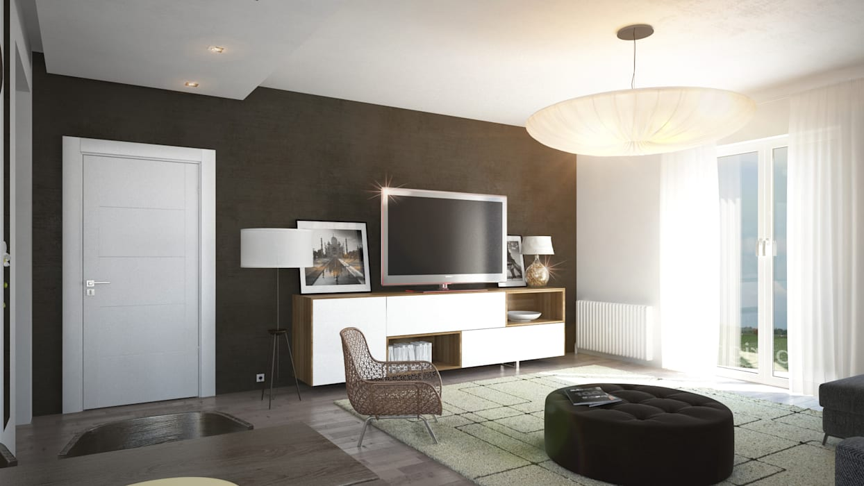 Ruang Keluarga oleh Beniamino Faliti Architetto, Modern