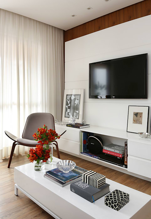 Salones de estilo  de Casa 2 Arquitetos, Moderno