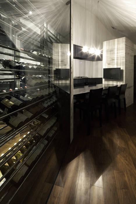 Lik house: 株式会社廣田悟建築設計事務所が手掛けたワインセラーです。,モダン