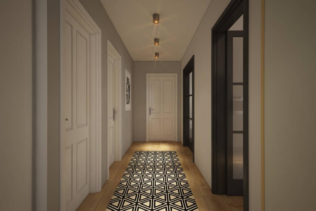 Modern corridor, hallway & stairs by yücel partners Modern