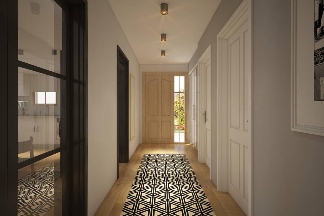 Villa Taşbaşı Modern Koridor, Hol & Merdivenler yücel partners Modern
