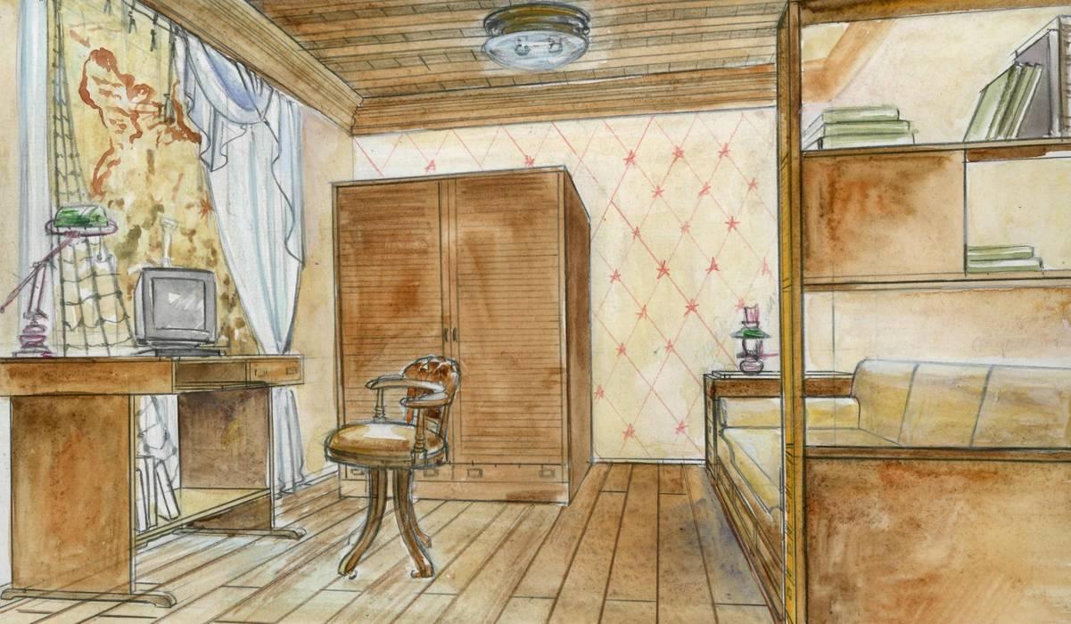 Детская: Детские комнаты в . Автор – Территория Дизайна