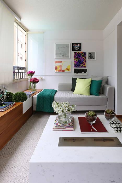 Salon de style  par Casa 2 Arquitetos