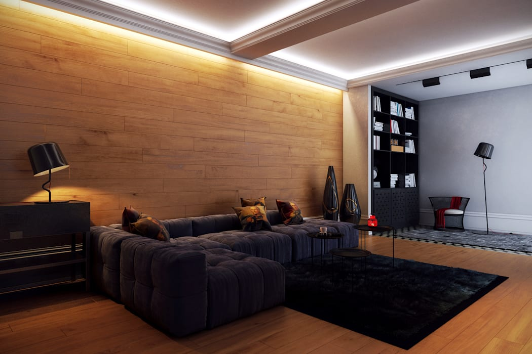 Salas de estar ecléticas por Перспектива Дизайн Eclético