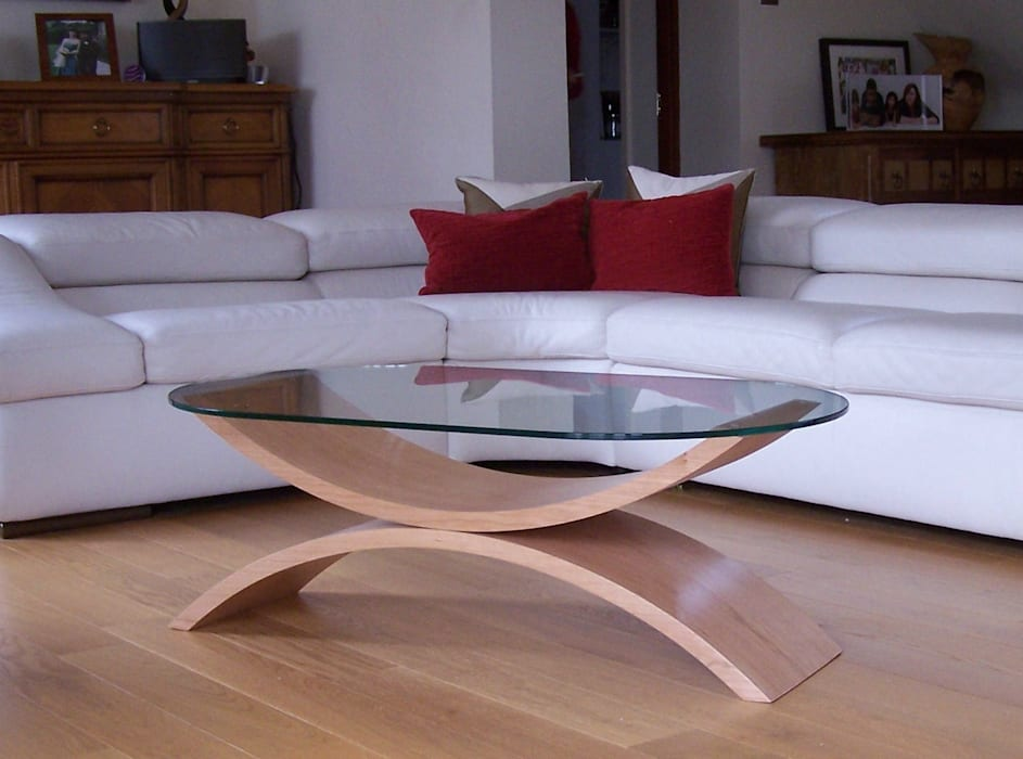 Reflections coffee table in cherry par ChippDesigns Minimaliste