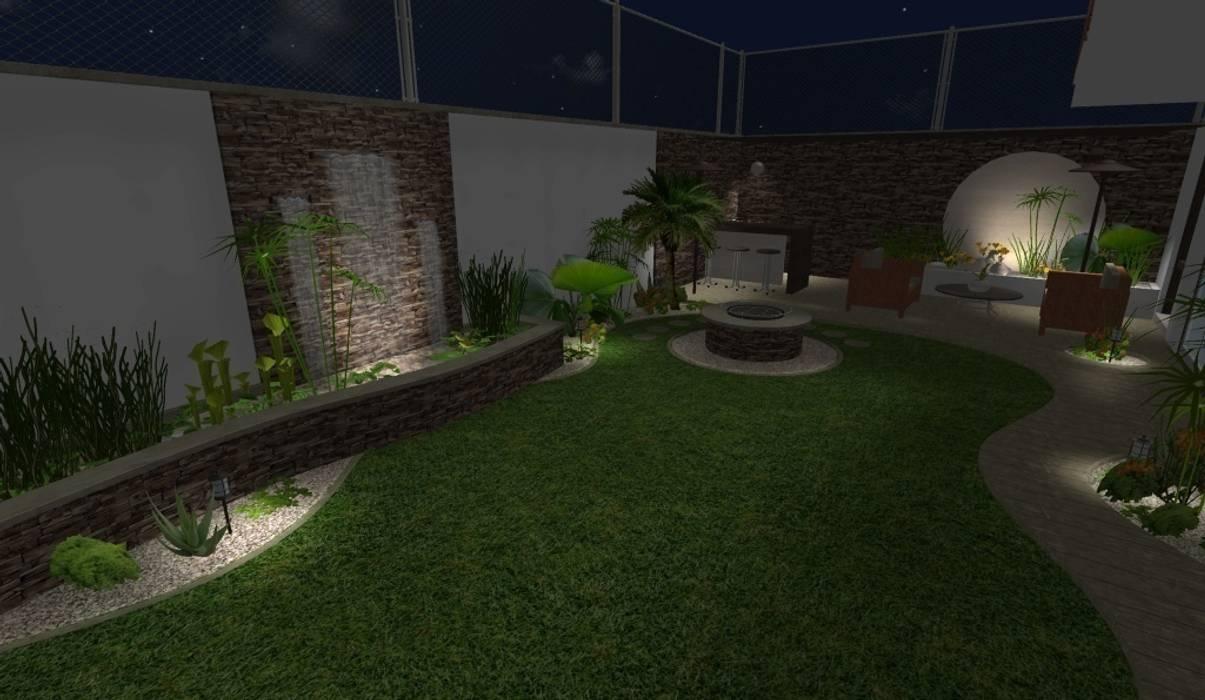 diseño - iluminación de noche Jardines de estilo moderno de Zen Ambient Moderno