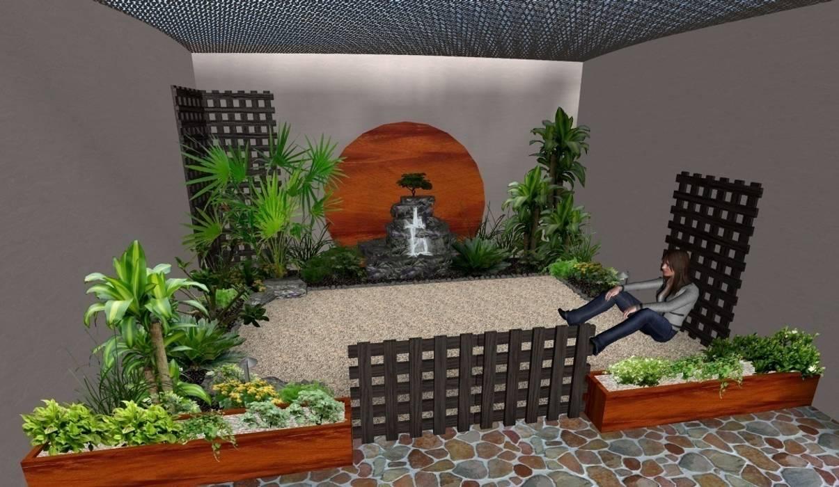 jardín pequeño tropical Jardines rústicos de Zen Ambient Rústico