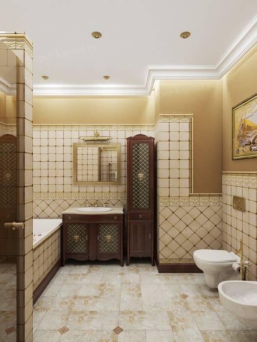 Дизайн интерьера ванной комнаты: Ванные комнаты в . Автор – Архитектурное Бюро 'Капитель'