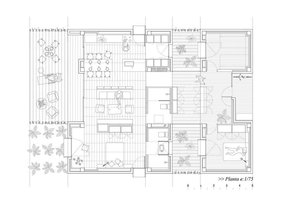 Casa para Pau & Rocio:  de estilo  de NUA Arquitectures