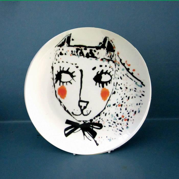 Girl cat Katy Leigh KitchenCutlery, crockery & glassware