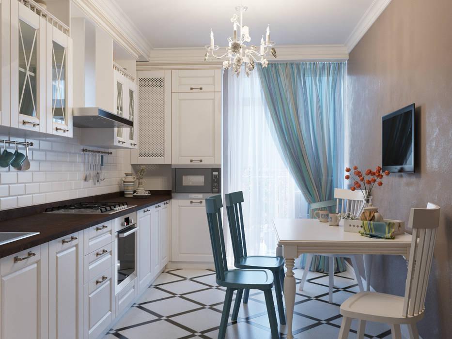 Однокомнатная квартира: Кухни в . Автор – Оксана Мухина