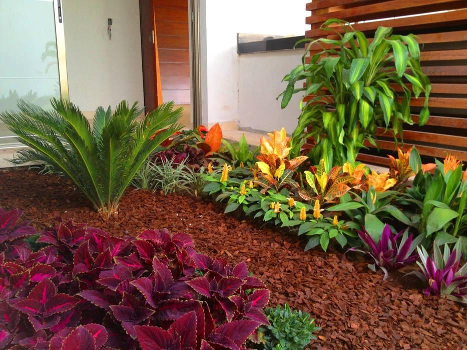 Casa Z-26. Jardín de la terraza-bar familiar: Jardines de estilo moderno por EcoEntorno Paisajismo Urbano
