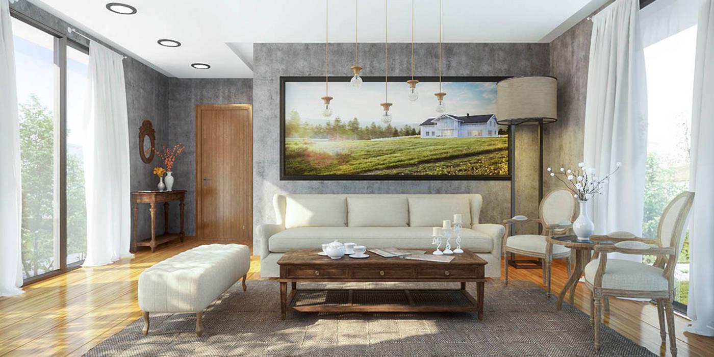 Ali İhsan Değirmenci Creative Workshop – Özgün Salon Tasarımı (Living Room):  tarz Oturma Odası,