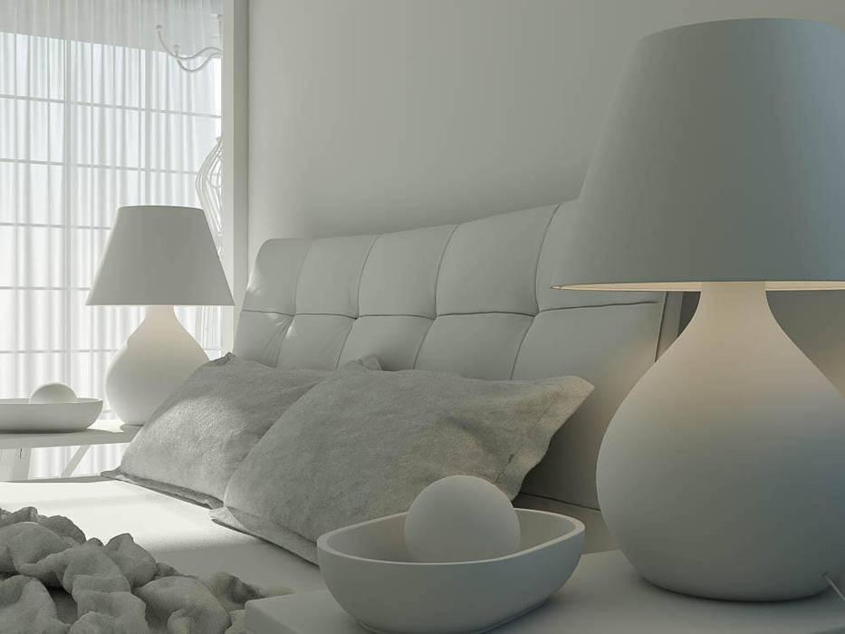 Yatak Odası (Bed Room) - Model ham hali Modern Yatak Odası Ali İhsan Değirmenci Creative Workshop Modern