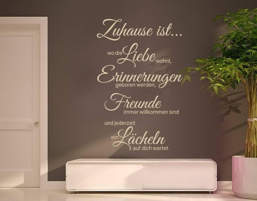 Wandtattoo liebe erinnerung freunde: flur & diele von klebefieber.de ...