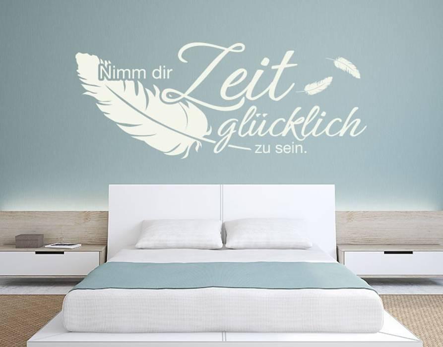 Wandtattoo nimm dir die zeit: schlafzimmer von klebefieber.de ...