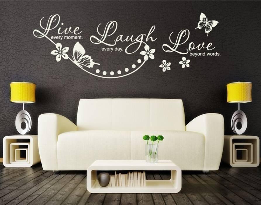 Wandtattoo live laugh love: wohnzimmer von klebefieber.de - apalis ...