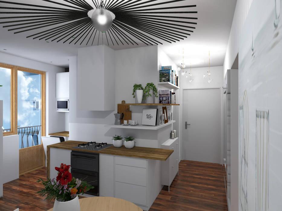 Cuisine ouverte: Cuisine de style de style Moderne par Denitsa Home