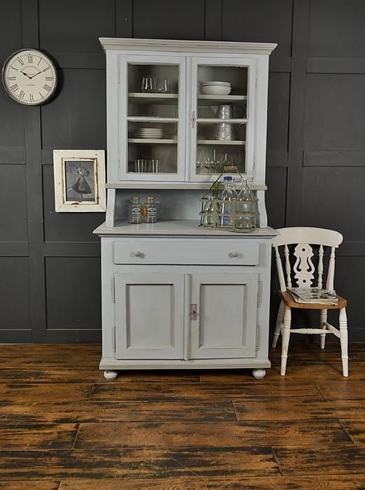 Shabby Chic Pastel Blue & Grey Antique Pine Kitchen Dresser de The Treasure Trove Shabby Chic & Vintage Furniture Rústico Madera maciza Multicolor
