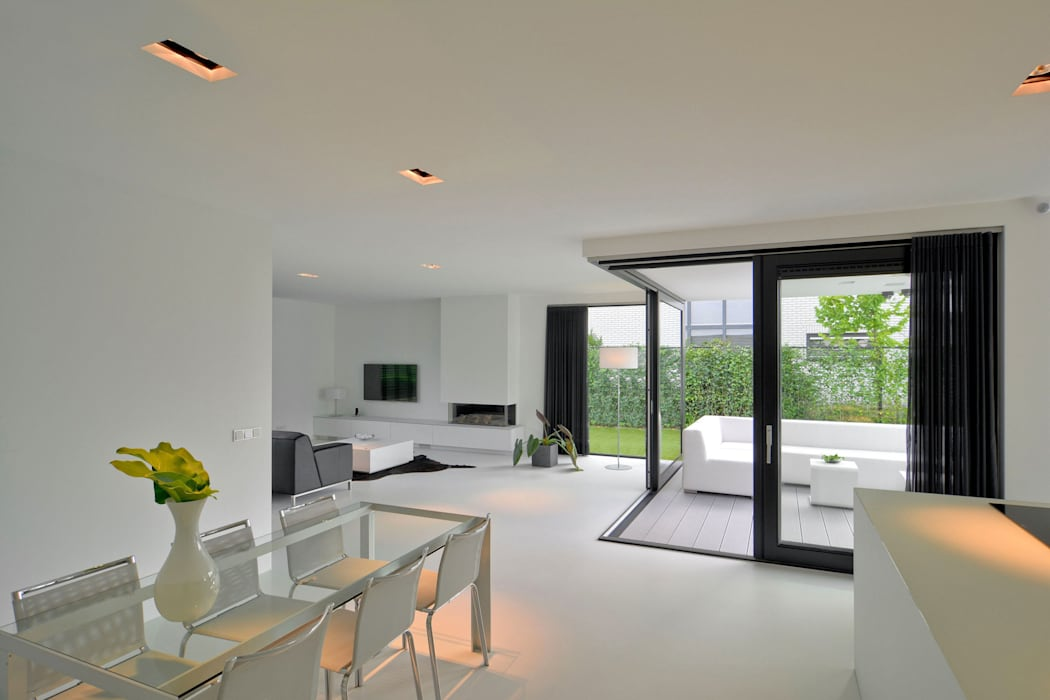 CKX architecten Modern living room