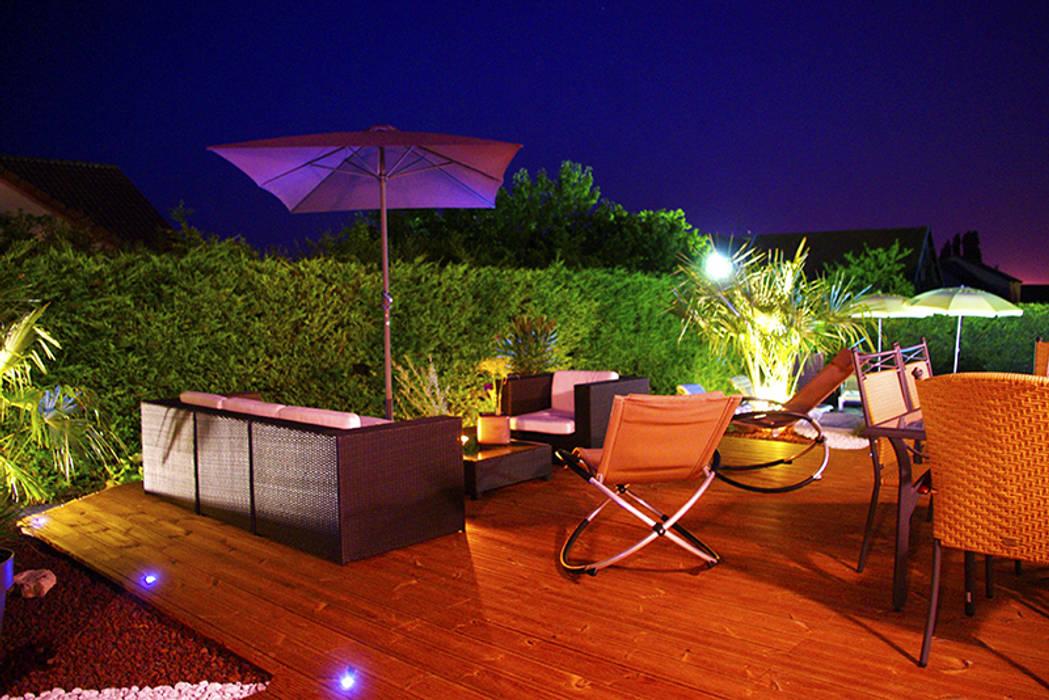 après, terrasse bois: Maisons de style  par AD2, Méditerranéen