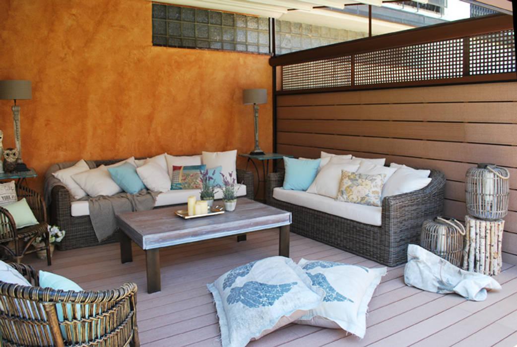 Vicente Galve Studio Mediterraner Balkon, Veranda & Terrasse