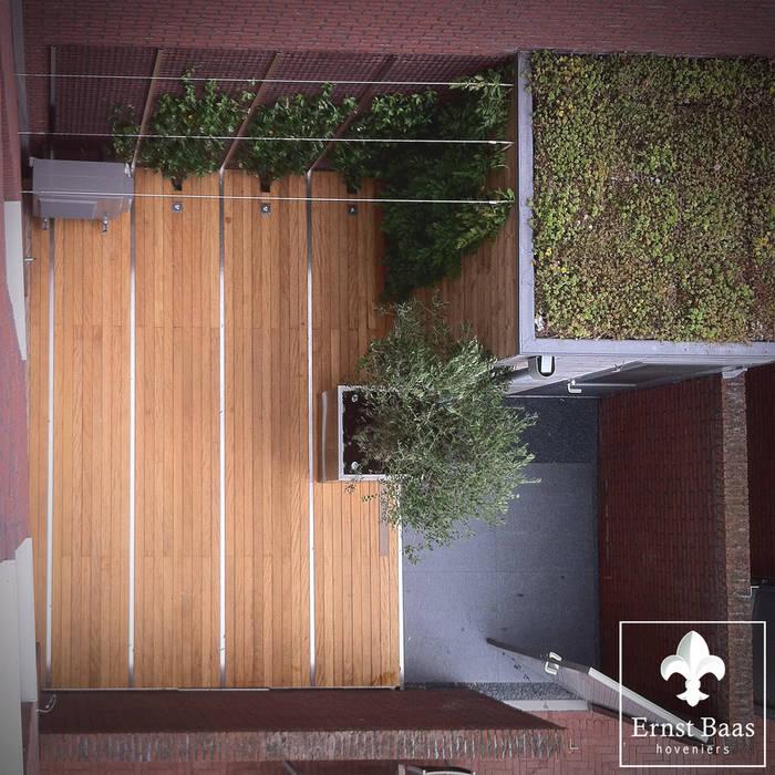 Overvieuw Patio Ernst Baas Hoveniers B.V. / Ernst Baas Tuininrichting B.V. Moderne tuinen