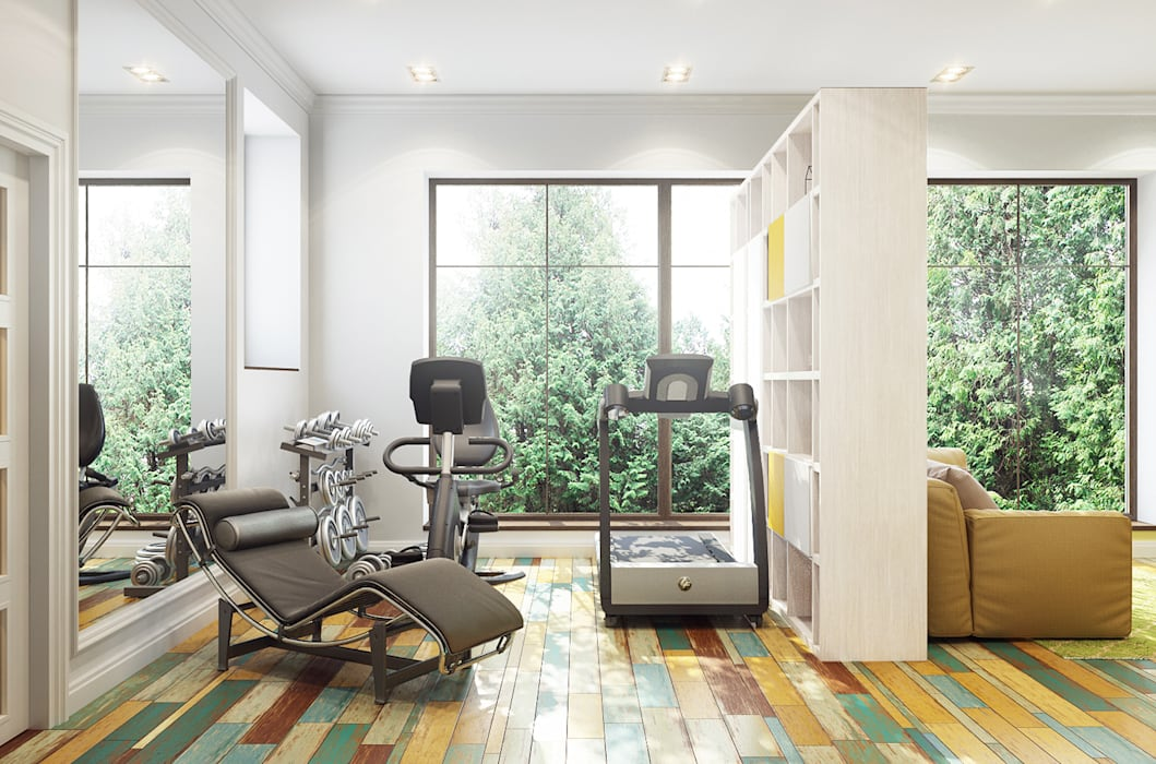 Eclectic style gym by Bronx Eclectic