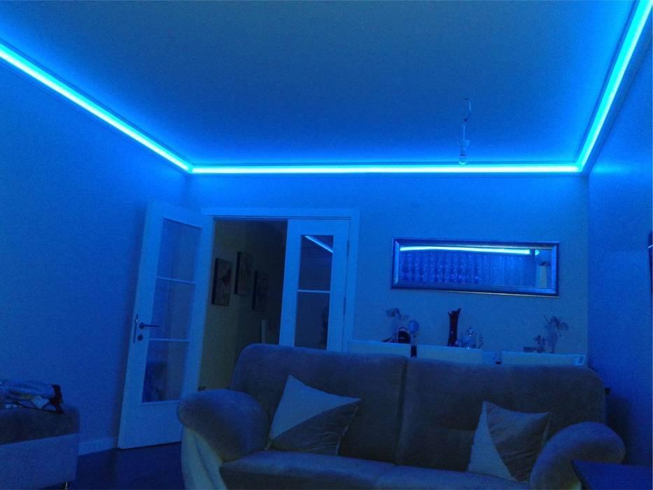 Rengarenk tavanlar-Gizli aydınlatma,dekoratif ışıklı kartonpiyer ve bordür sistemleri; LEDPiYER Modern Oteller Kartonpiyer san. Modern