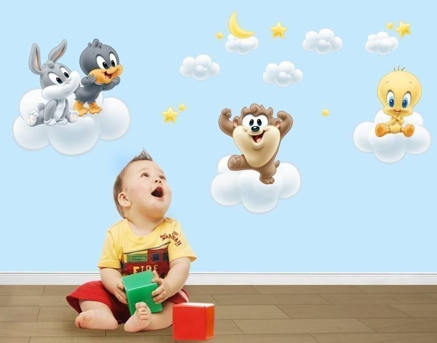 Wandtattoo baby looney tunes auf wolken: kinderzimmer von ...