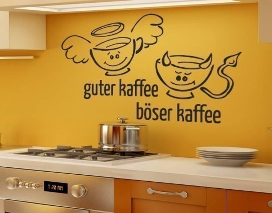 Wandtattoo guter, böser kaffee: küche von klebefieber.de - apalis ...