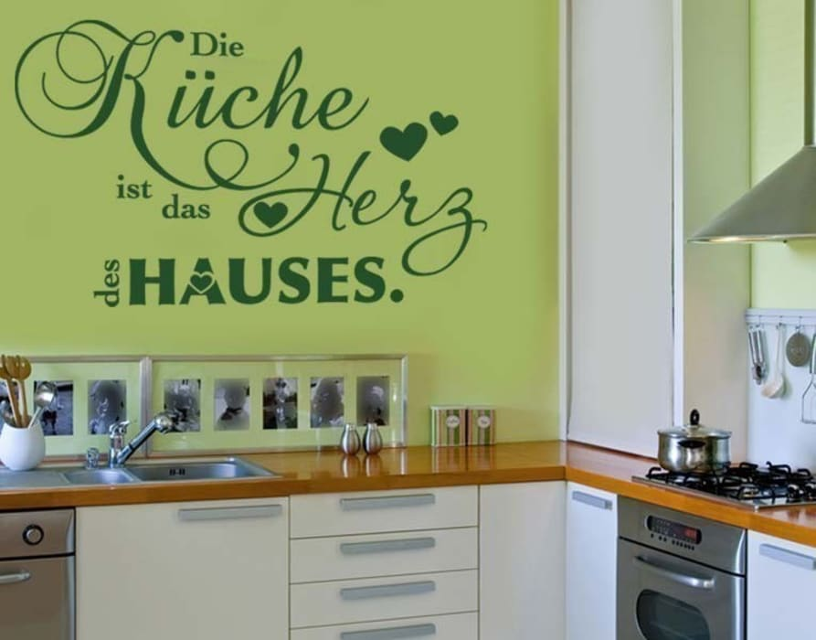 wandtattoo die küche… moderne küchen von klebefieber.de