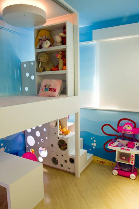 Quarto K&R.R - segunda fase Kali Arquitetura Quarto infantil moderno