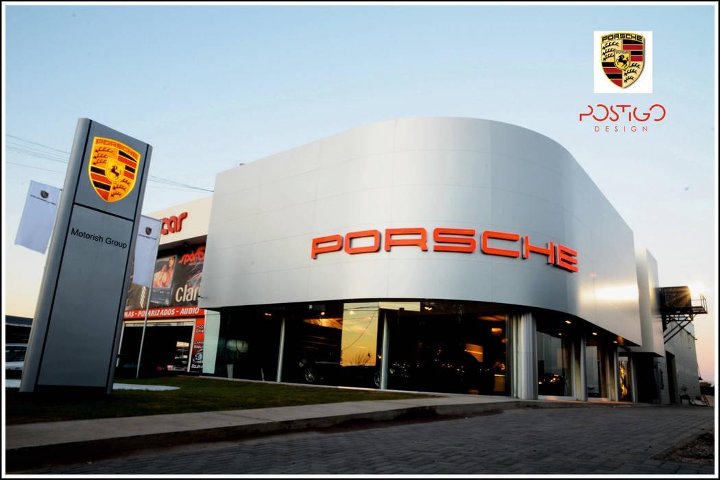 Porsche Center Cordoba : Concesionarios de estilo  por Postigo design,Moderno