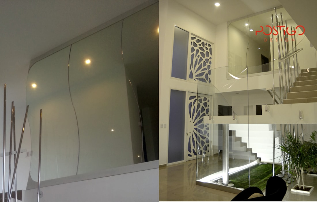 Piel de Cristal: Pasillos y recibidores de estilo  por Postigo design,Moderno